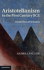 Aristotelianism in the First Century BCE:…