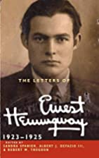 The Letters of Ernest Hemingway: Volume 2,…