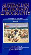 Australian Dictionary of Biography Volume…