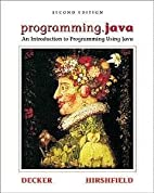 programming.java: An Introduction to…