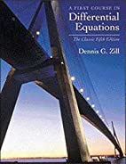 First Course in Differential Equations with…