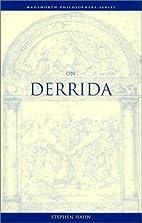 On Derrida (Wadsworth Philosophers Series)…