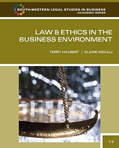 law-and-ethics-in-the-business-environment-south-western-legal-studies-in-business-academic