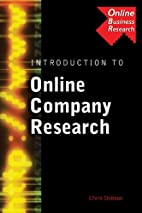 Introduction to Online Company Research by…