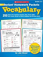 Instant Homework Packets: Vocabulary: Grades…