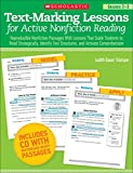 Stamper, Judith Bauer: Text-Marking Lessons for Active Nonfiction Reading (Grades 2-3): Reproducible Nonfiction Passages With Lessons That Guide Students to Read ... Text Structures, and Activate Comprehension