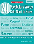 240 Vocabulary Words Kids Need to Know:…