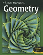 Holt McDougal Geometry: Student Edition 2012…