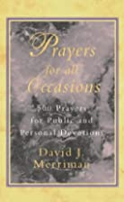 Prayers for All Occasions by David J.…