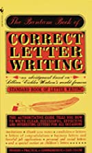 Bantam Book of Correct Letter Writing by…