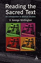Reading the Sacred Text: An Introduction in…
