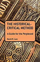 The Historical-Critical Method: A Guide for…