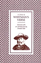 Choice of Whitman's Verse by Walt Whitman