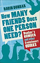 How Many Friends Does One Person Need?:…