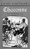 Matthews, David: Chaconne (Score) (Faber Edition)