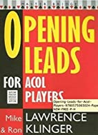 Opening Leads for Acol Players (Master…