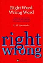 Right word wrong word : words and structures…