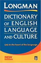 Longman Dictionary of English Language and…