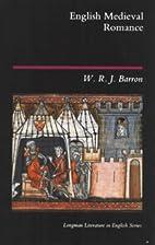 English Medieval Romance by W. R. J. Barron