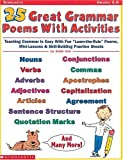 Katz, Bobbi: 25 Great Grammar Poems With Activities