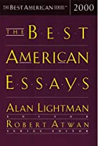 The Best American Essays 2000 by Alan…