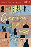 Eggers, Dave: The Best American Nonrequired Reading 2003