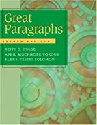 Great Paragraphs: An Introduction To Writing…
