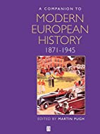 A Companion to Modern European History:…