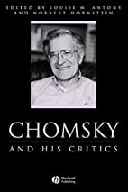 Chomsky and His Critics by Louise M. Antony