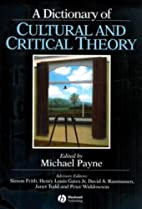 A Dictionary of Cultural and Critical Theory…