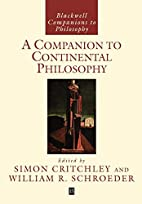 A Companion to Continental Philosophy by…