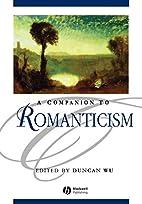 A Companion to Romanticism (Blackwell…