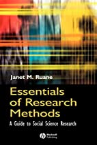 Essentials of Research Methods: A Guide to…