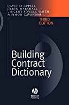 Building Contract Dictionary by David…