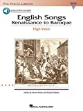 Walters, Richard: English Songs: Renaissance to Baroque: The Vocal Library High Voice