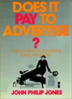 Does It Pay To Advertise: Cases Illustrating…