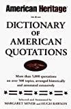 Rawson, Hugh: American Heritage: Dictionary of American Quotations