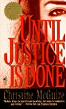 Until Justice is Done by Christine McGuire