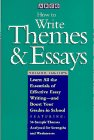 How to Write Themes and Essays by John…