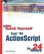 Sams Teach Yourself Flash MX ActionScript in…