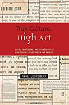 Thin Culture, High Art: Gogol, Hawthorne,…