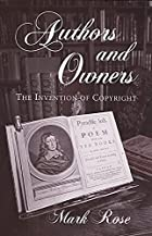 Authors and Owners: The Invention of…