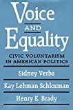 Sidney Verba: Voice and Equality: Civic Voluntarism in American Politics
