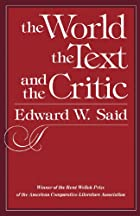 The World, the Text, and the Critic by…