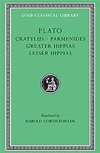 Cratylus ; Parmenides ; Greater Hippias ;…