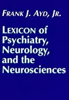 Lexicon of psychiatry, neurology, and the…