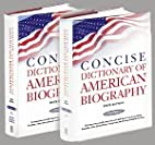 Concise Dictionary of American Biography by…