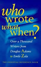 Who Wrote What When? by The Diagram Group
