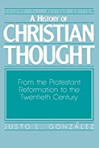 A History of Christian Thought: From the…