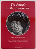 The Portrait in the Renaissance by John…
